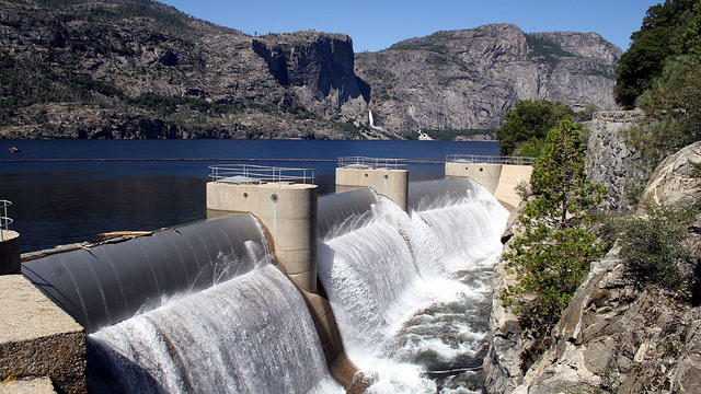 The Hetch Hetchy Reservoir (and O'Shaughnessy Dam), the Sierra Nevada holding tank for San Francisco's drinking water.