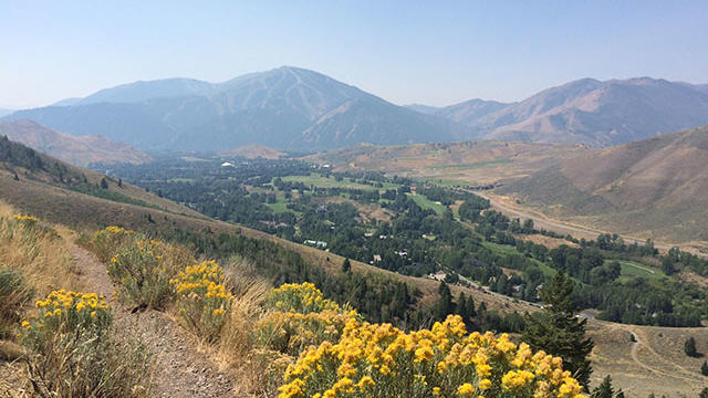 Drink this in: The town of Ketchum, Idaho (as seen from Proctor Mountain) is hosting an Oktoberfest celebration this weekend. (Photo by Andrea Minarcek.)
