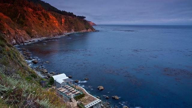 The Esalen hot springs from above. Photograph by Kodiak Greenwood.