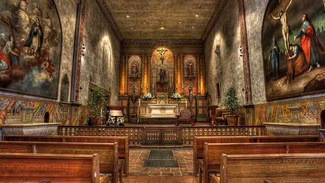 Mission Santa Barbara via Flickr user Kevin Cole