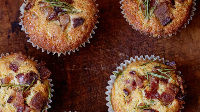 Bacon cheddar muffins (photos provided by Chronicle Books)