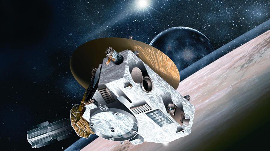 New Horizons image courtesy Johns Hopkins University Applied Physics Laboratory/Southwest Research Institute