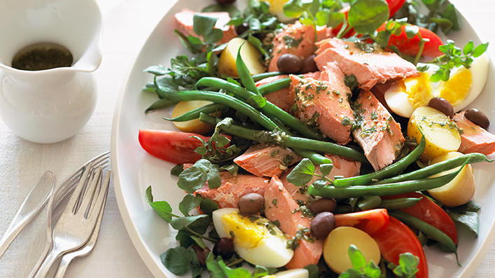 Salmon Niçoise Salad. (Photograph by Annabelle Breakey)