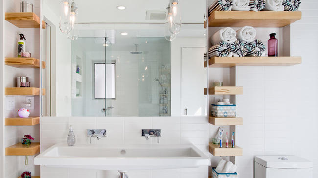 How to get a spotless organized bathroom in 7 days for Houzz magazine