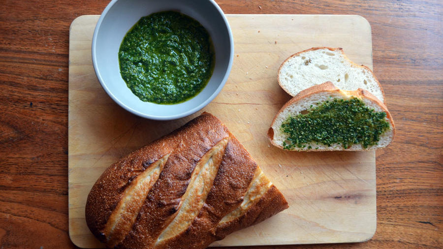 The finished pesto. (Carol Shih/Sunset Publishing)