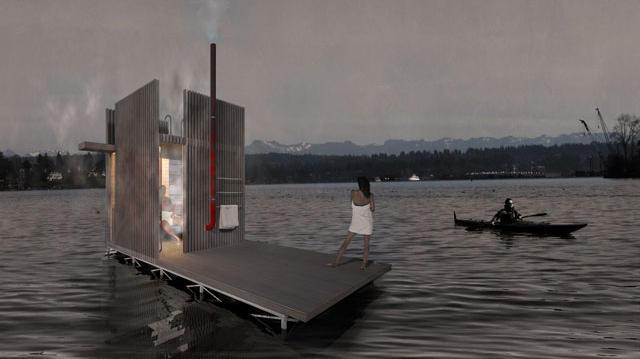 Idea We Love: Floating Sauna by goCstudio