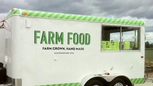 Hipster farmers and food truck owners