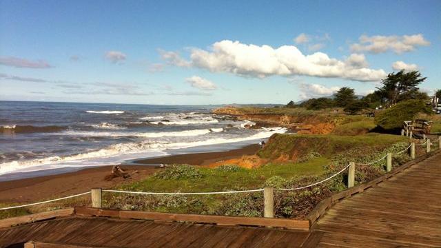 The beach boardwalk with killer views