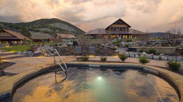 Warm yourself up at Iron Mountain Hot Springs, in Glenwood Springs, Colorado (Courtesy of the resort)