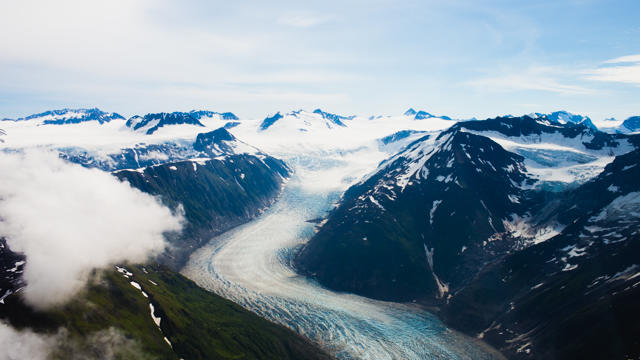 Ice fields near Glacier Bay, Alaska. (Photo by Sonja and Alex Overhiser, A Couple Cooks.)