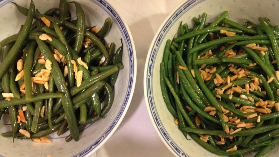 Green beans, left. Haricots verts, right. Are they really so different?