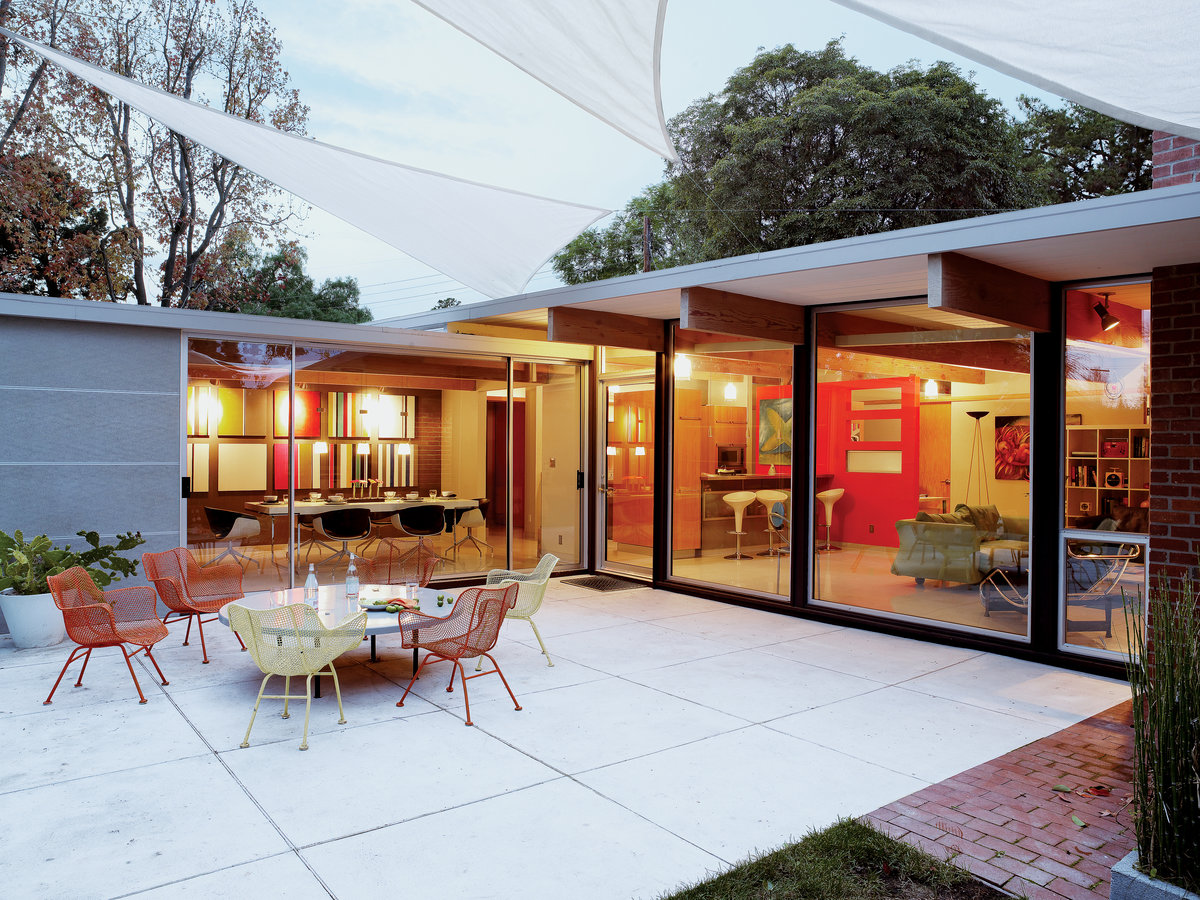 Elements of eichler style sunset magazine for Sunset house plans