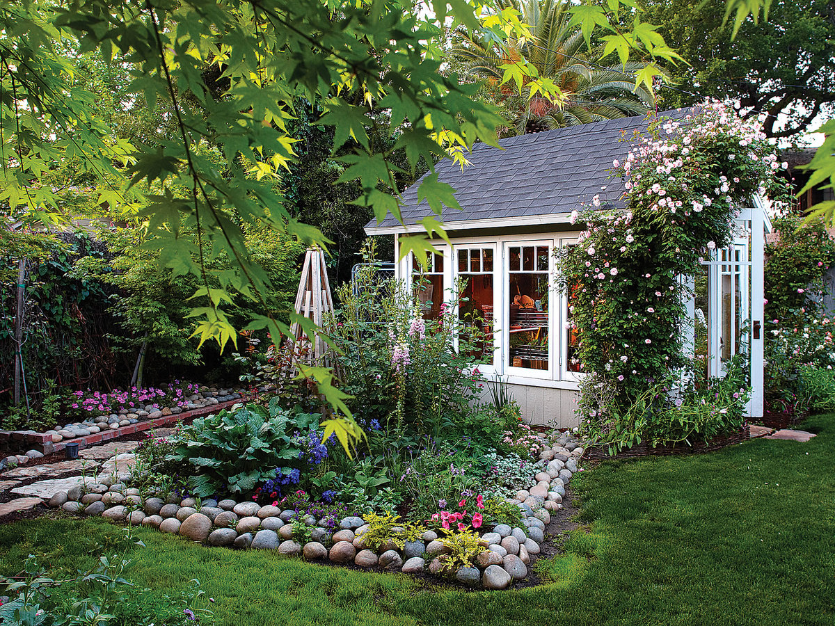 Garden Cottage Greenhouse - Sunset Magazine on Cottage Yard Ideas id=47653