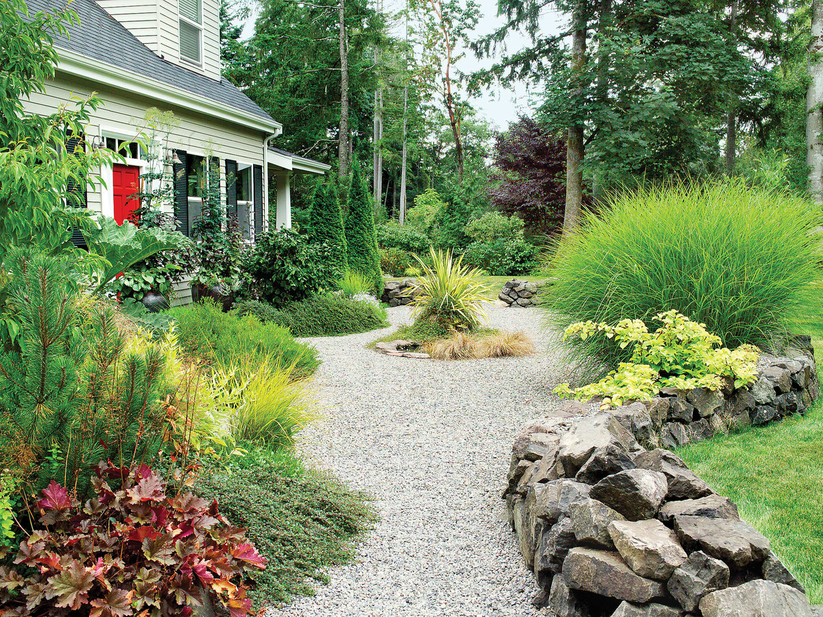 Landscaping with gravel sunset magazine for Garden design ideas northeast
