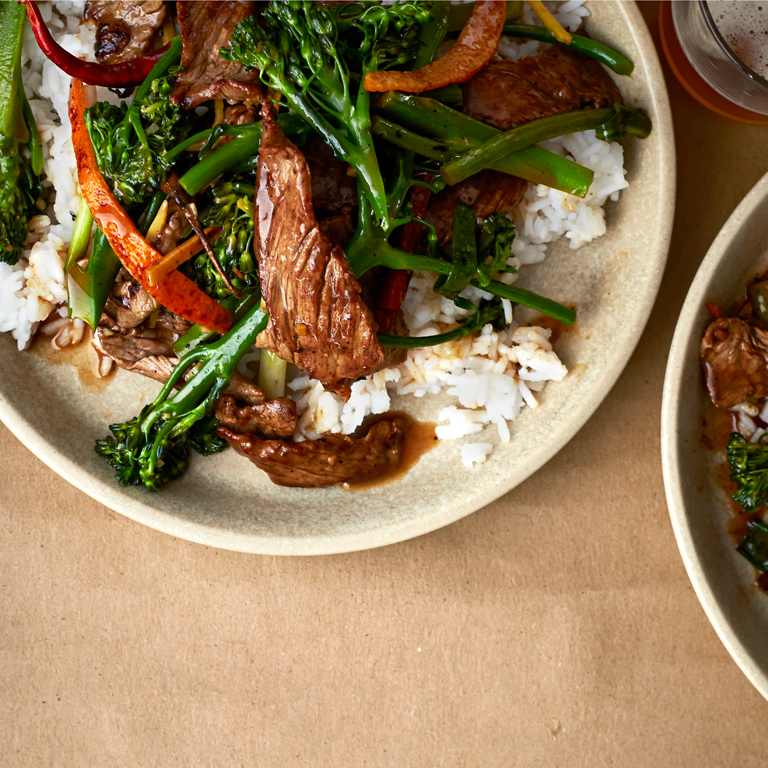 su-Tangerine Beef and Broccolini Image