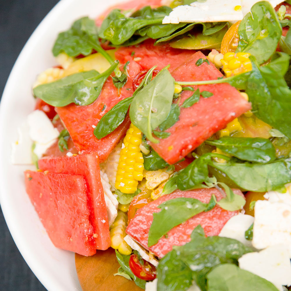 su-Watermelon, Corn, and Tomato Salad Image