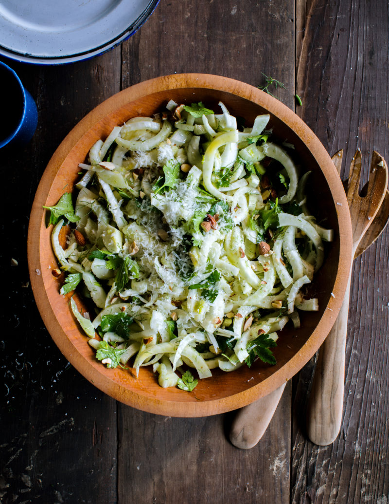 Fennel, Almond, and Pecorino Salad