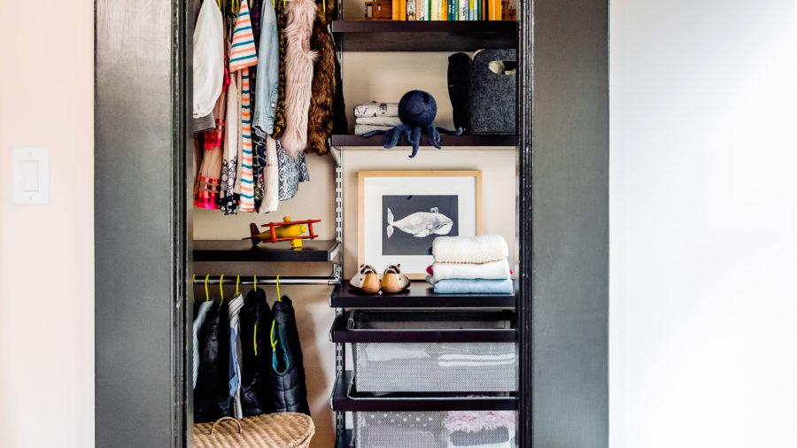Adjustable Closet Shelving