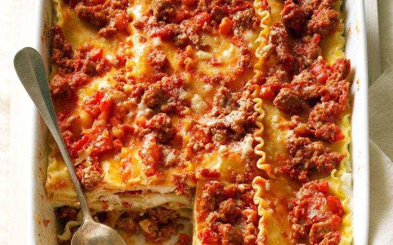 Lasagna with Sausage Ragù Redux