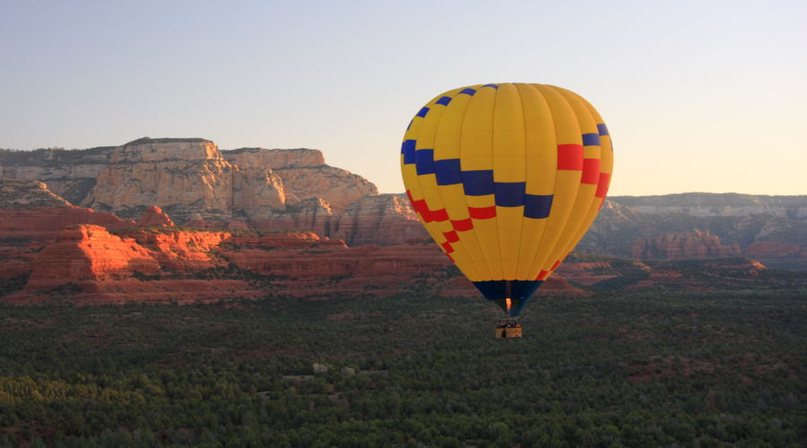 Ballooning over Arizona's Red Rocks
