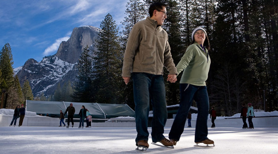Picturesque Ice Skating in Yosemite
