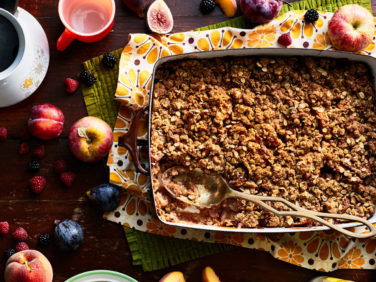 Apple Crisp with Brandy and Spices