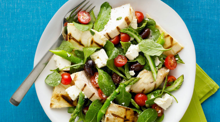 Grilled Chicken Pita Salad