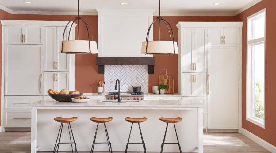 Sherwin-Williams' Cavern Clay Used in a Kitchen