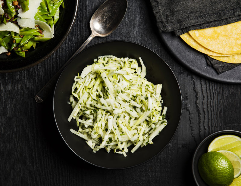 Jicama and Green Cabbage Slaw