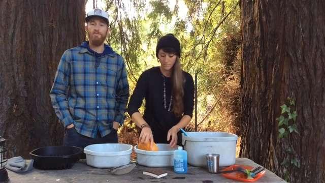 Washing Dishes at Camp