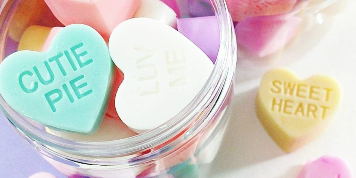 Conversation Hearts Mini Soaps