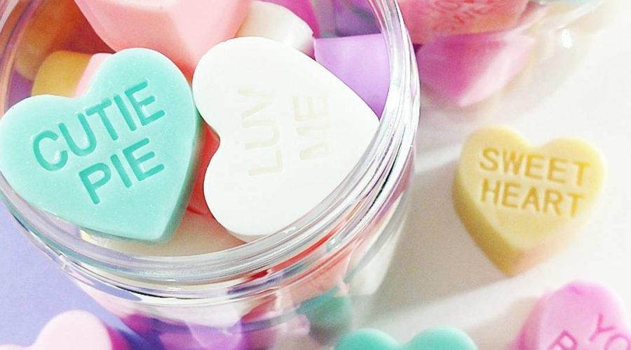 Conversation Hearts Mini Soaps